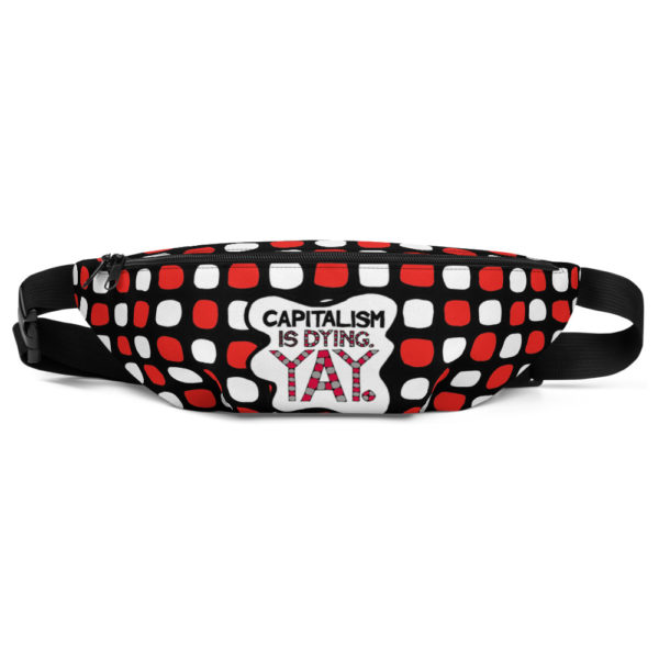 anti-capitalist fanny pack front