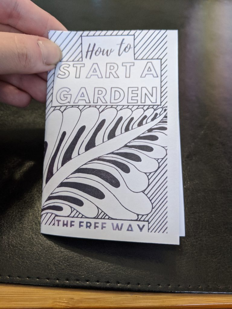 Gardening Zine cover: How to start a garden the free way